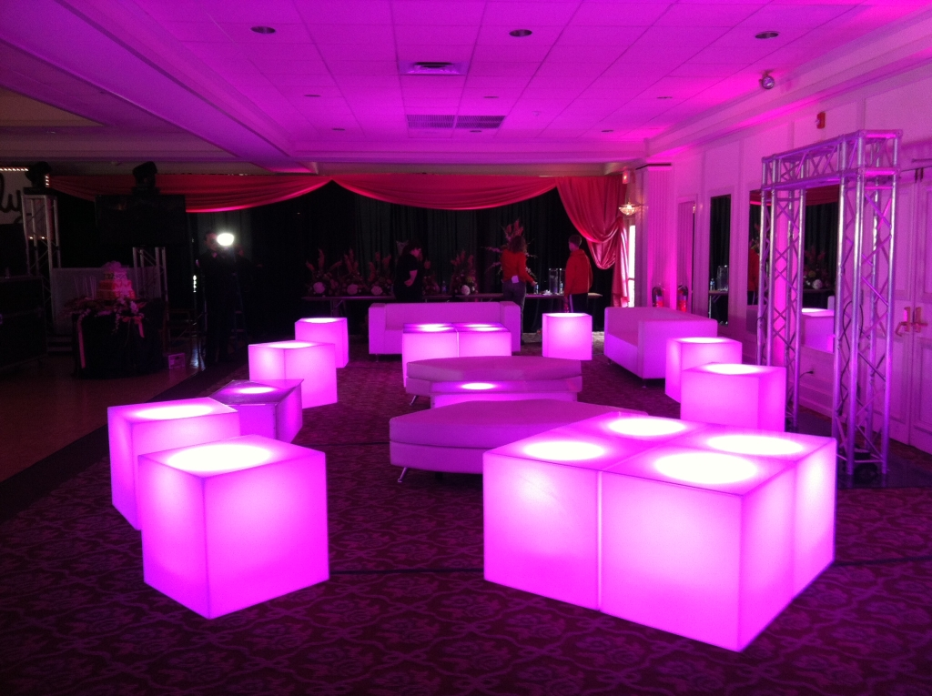 Led furniture aviance event planning and lounge decor nj - Lounge deco ...